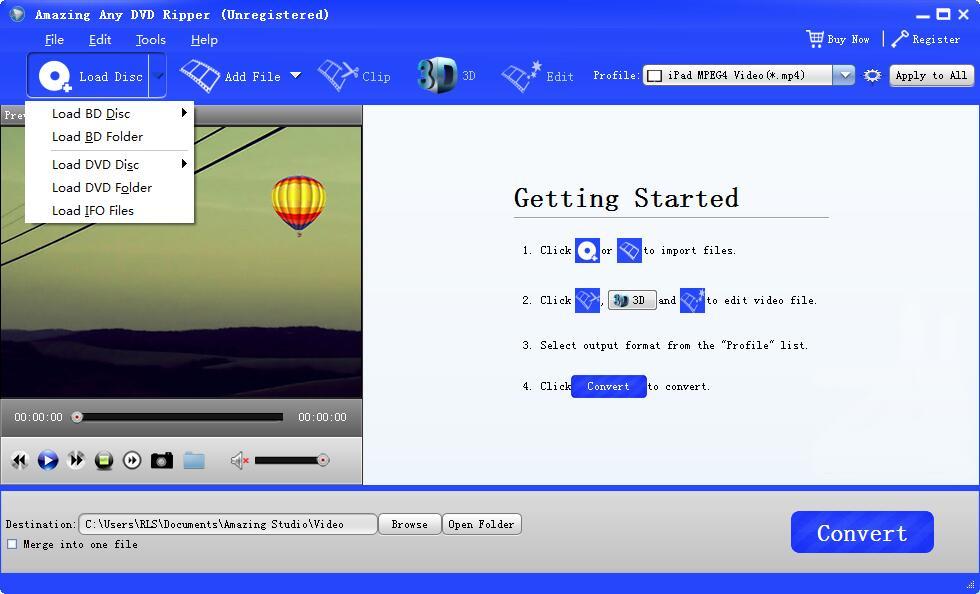 Amazing Any DVD Ripper screenshot