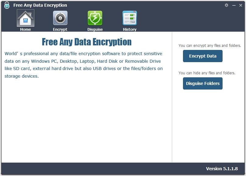 Free Any Data Encryption full screenshot