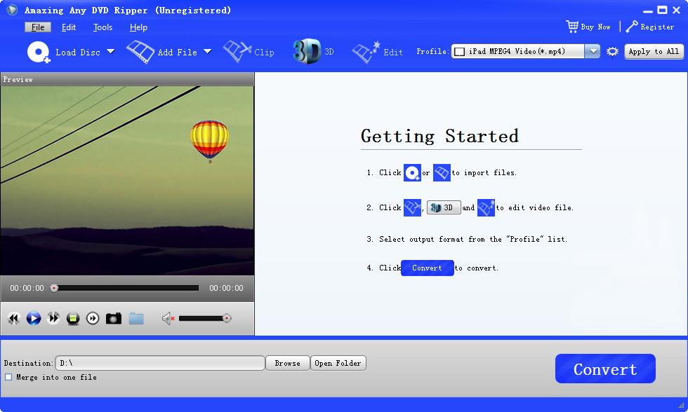 Free Any DVD Ripper full screenshot