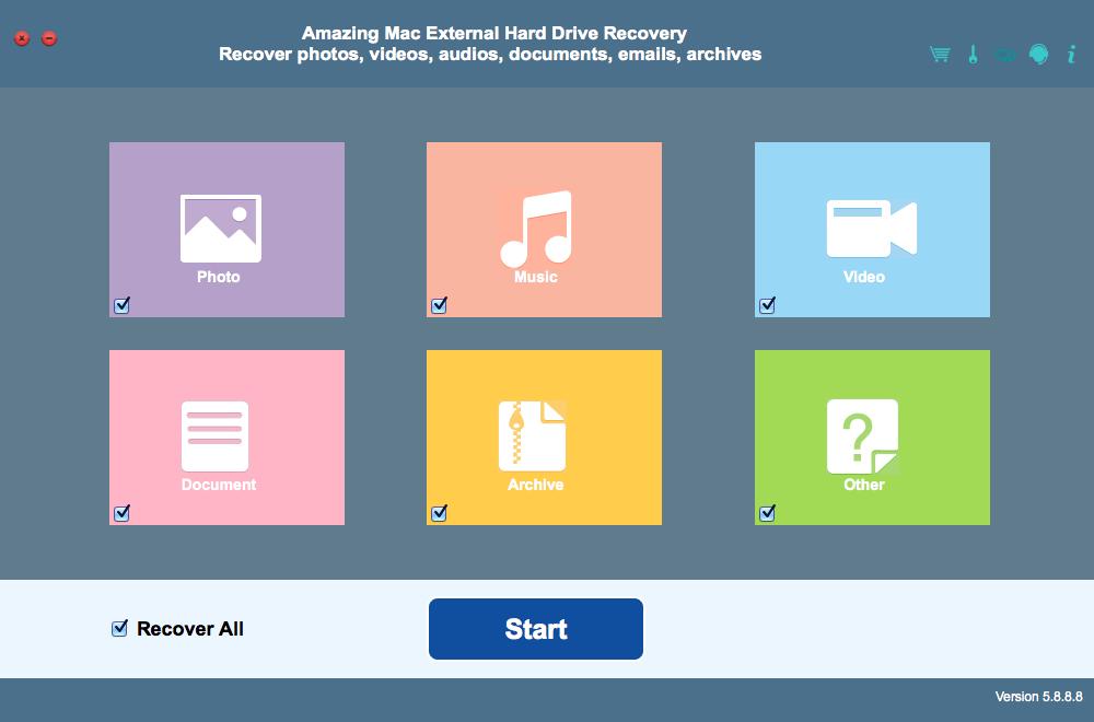 Amazing Mac External Hard Drive Recovery 8.8.8.9 full