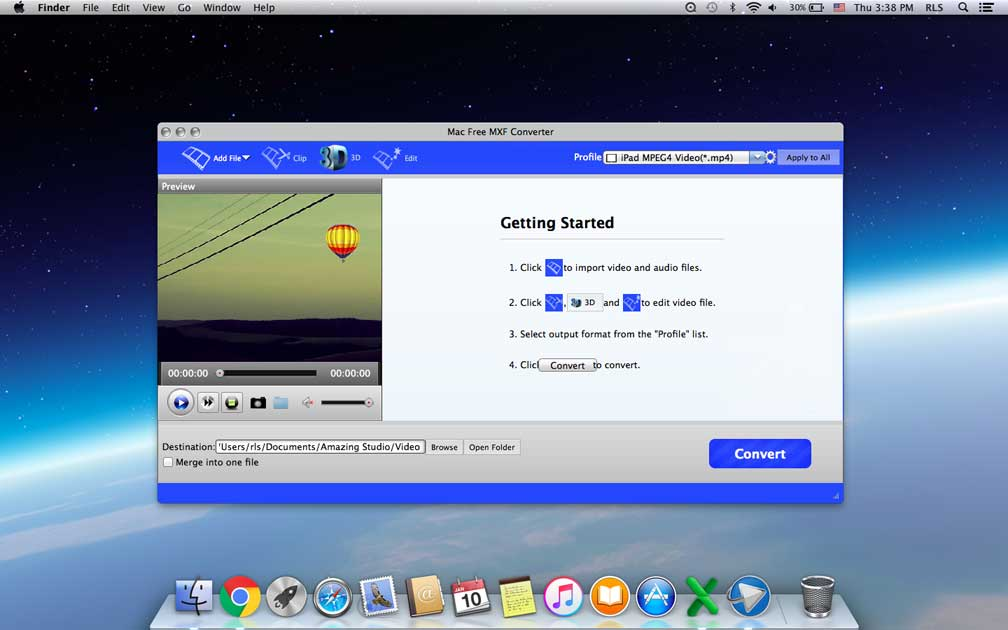 Mac Free MXF Converter - Convert MXF to MP4/MOV/MKV/AVI on Mac