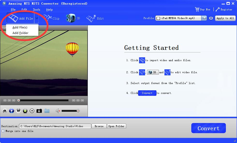 Windows 7 Amazing MTS M2TS Converter 11.8 full