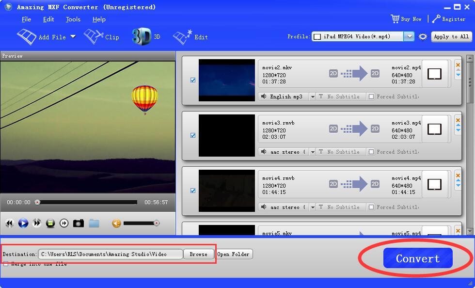 MXF Converter:MXF to MP4/MOV/AVI/MP3/ProRes/Premiere Pro